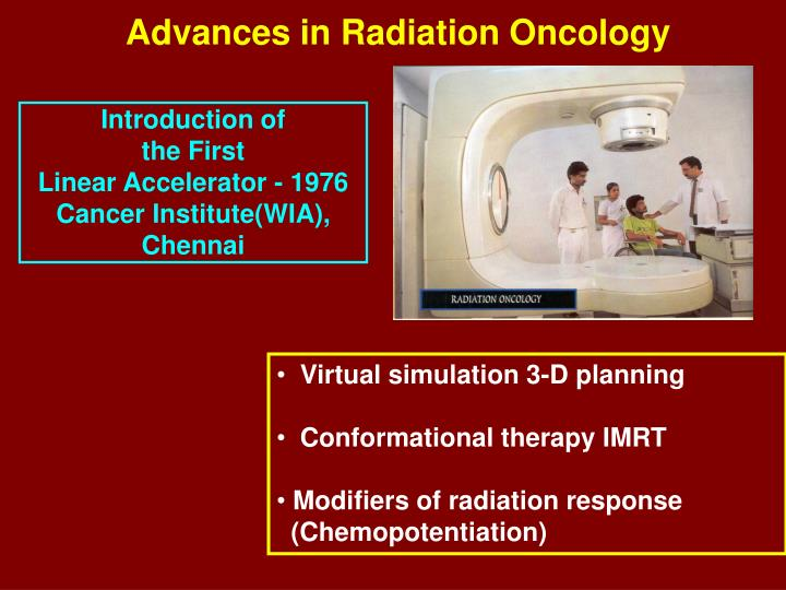 Advances in Radiation Oncology