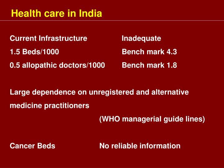 Health care in India