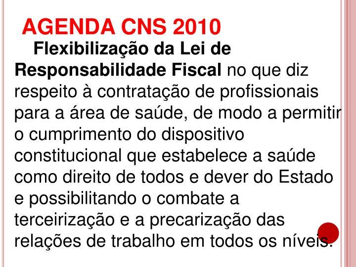 AGENDA CNS 2010