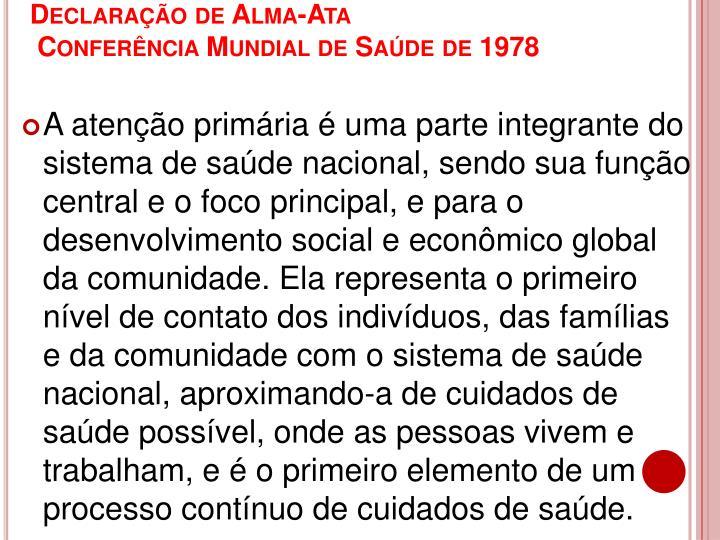 Declaração de Alma-Ata