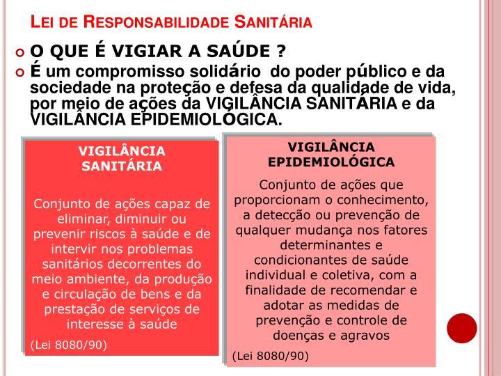 Lei de Responsabilidade Sanitária