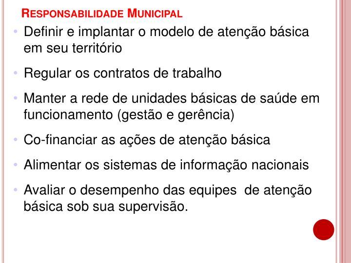 Responsabilidade Municipal
