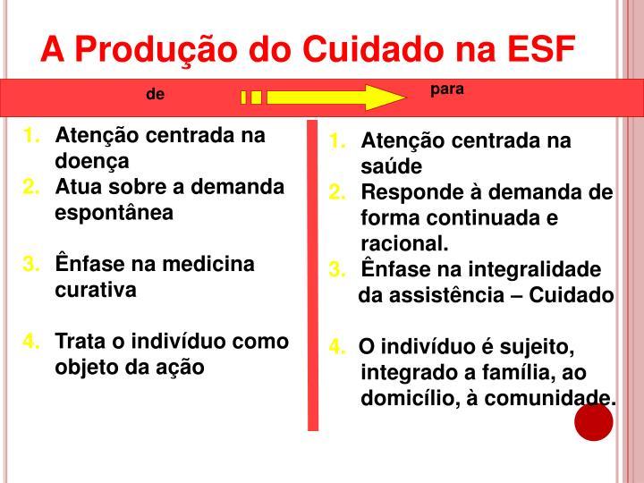 A Produção do Cuidado na ESF