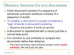 distance function for text documents