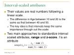 interval scaled attributes