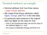 nominal attributes an example