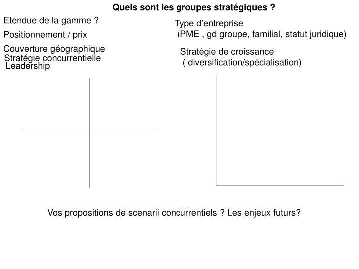 Quels sont les groupes stratégiques ?