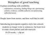metaphor of good teaching