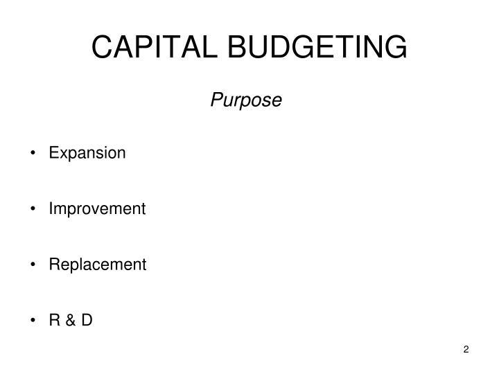Capital budgeting1