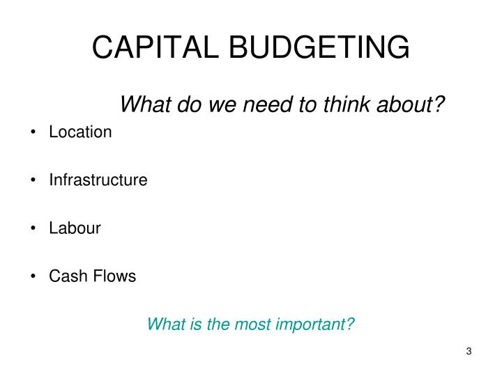 Capital budgeting2