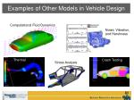 examples of other models in vehicle design