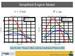 simplified engine model