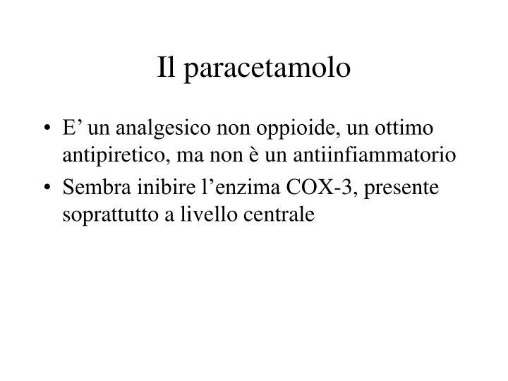 Il paracetamolo
