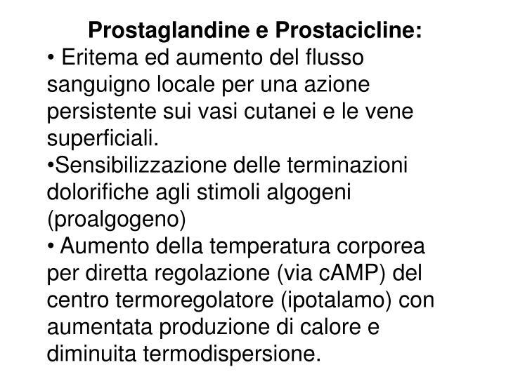 Prostaglandine e Prostacicline: