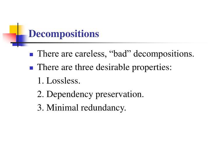 Decompositions