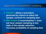 approaches to quantitative sampling