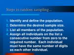 steps in random sampling