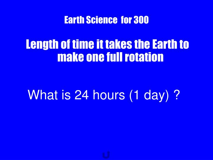 Earth Science  for 300
