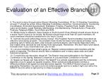 evaluation of an effective branch1