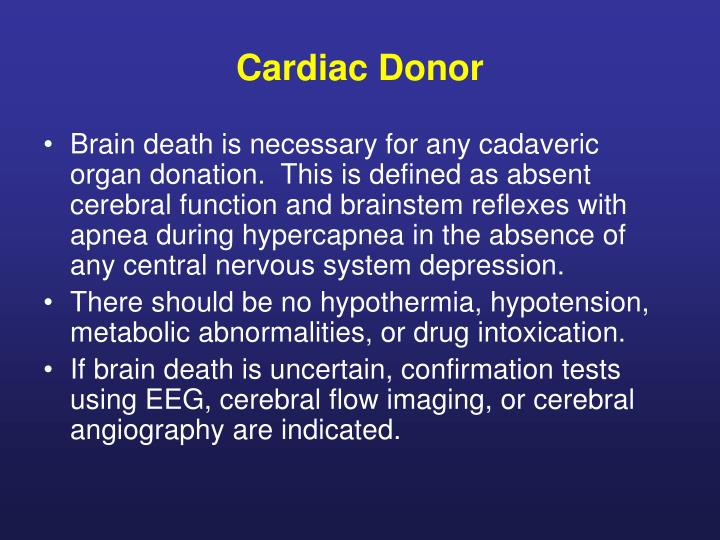 Cardiac Donor