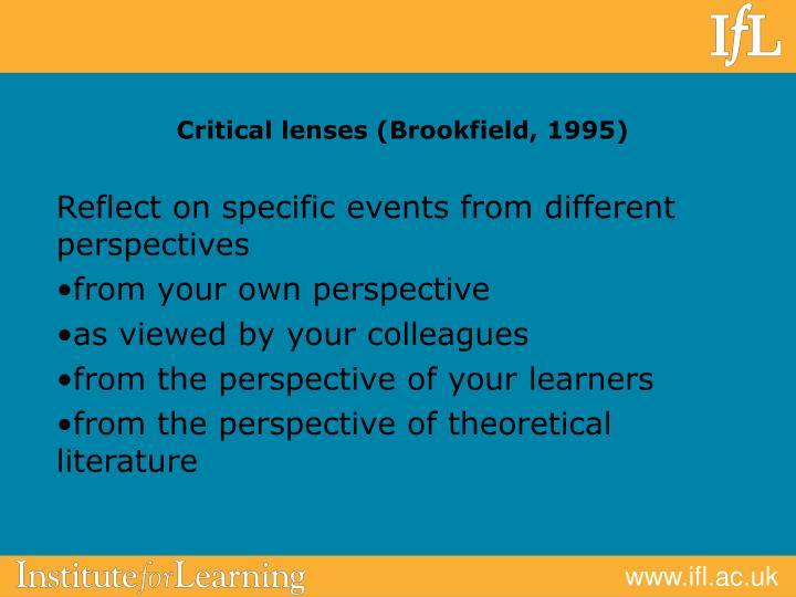 Critical lenses (Brookfield, 1995)