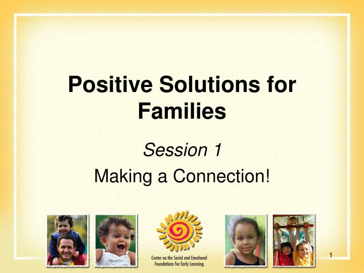 Positive solutions for families