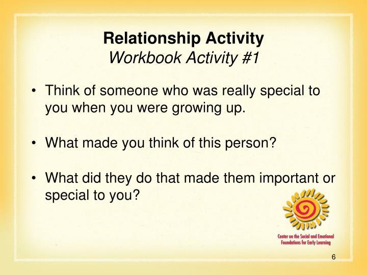 Relationship Activity