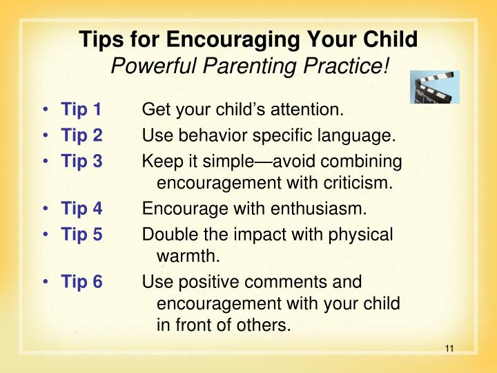 Tips for Encouraging Your Child