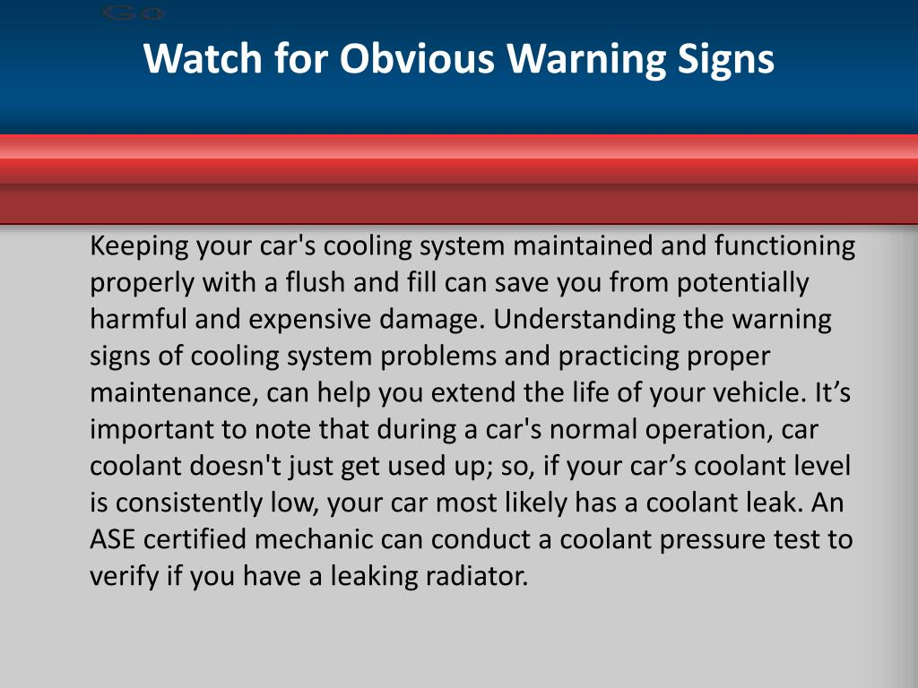 Watch for Obvious Warning Signs