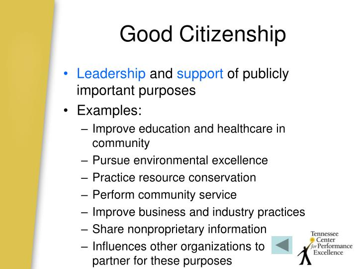 Good Citizenship