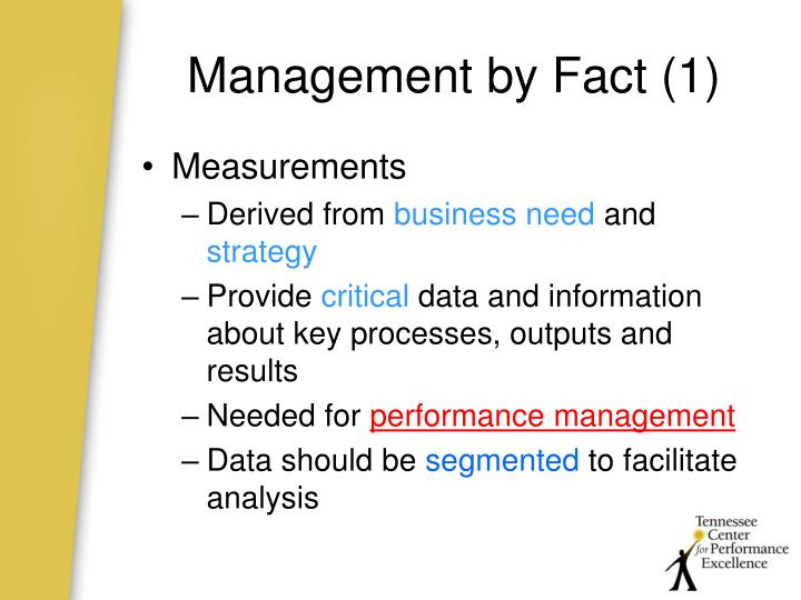 Management by Fact (1)
