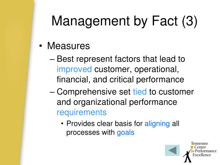 Management by Fact (3)