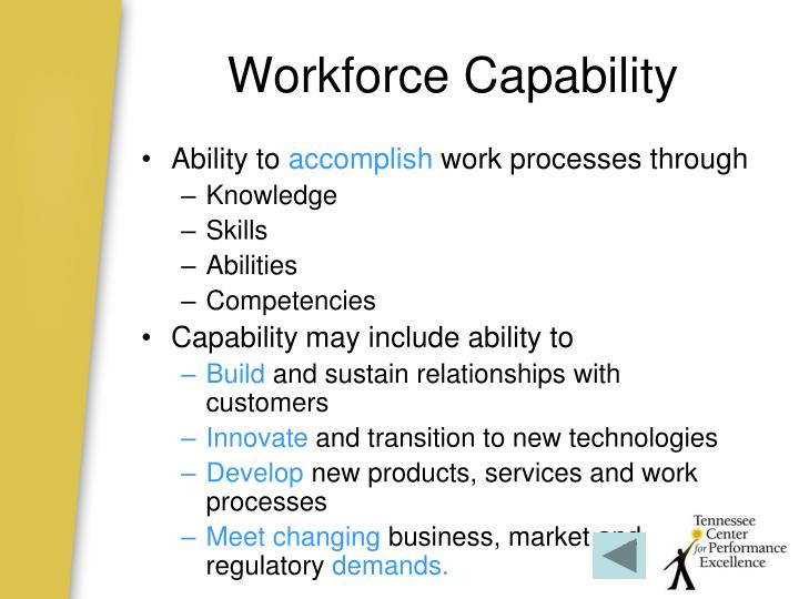 Workforce Capability