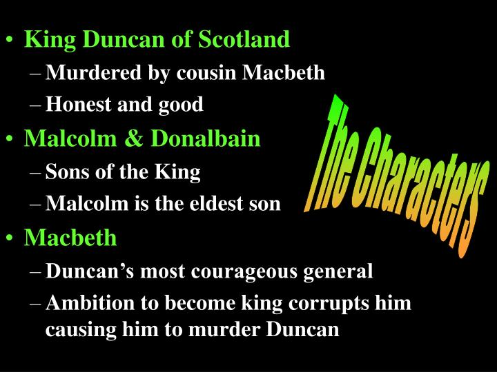 King Duncan of Scotland