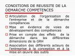 conditions de reussite de la demarche competences1