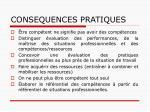 consequences pratiques