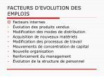 facteurs d evolution des emplois1