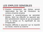 les emplois sensibles1