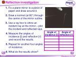 reflection investigation