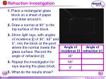 refraction investigation