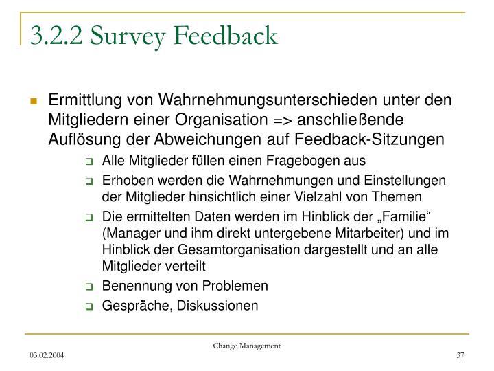 3.2.2 Survey Feedback