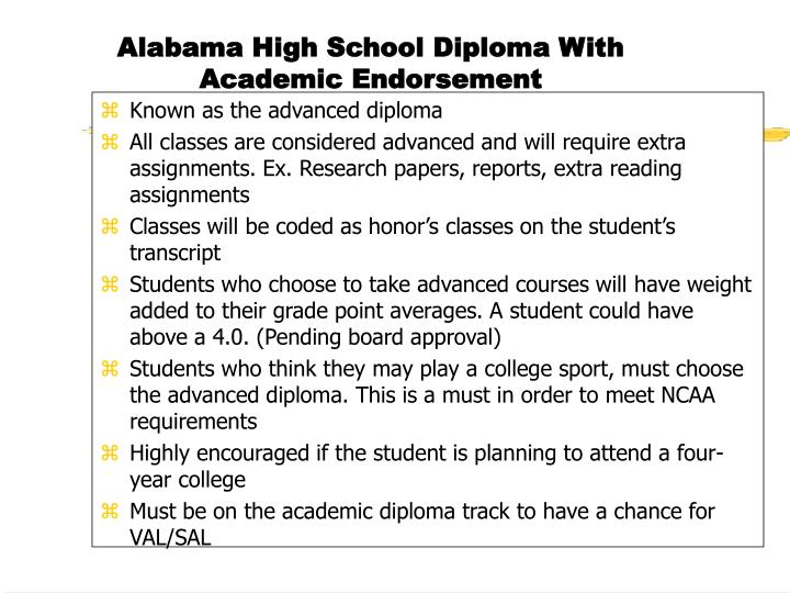 Known as the advanced diploma