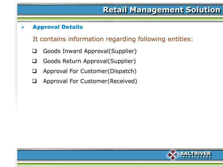 Approval Details