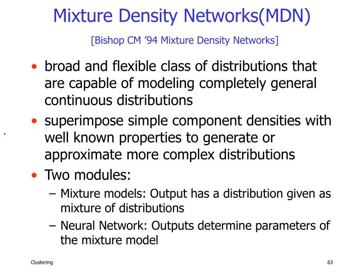 Mixture Density Networks(MDN)
