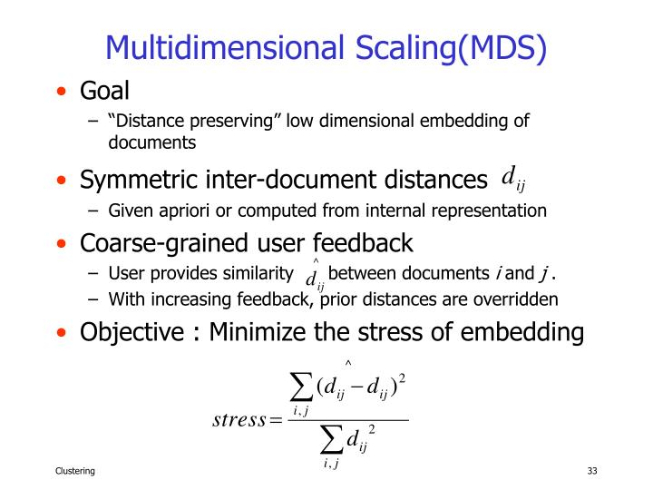 Multidimensional Scaling(MDS)