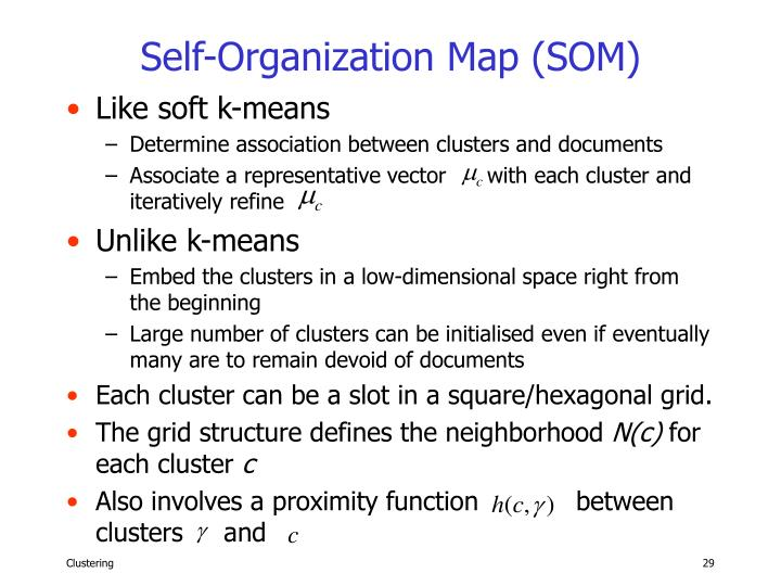Self-Organization Map (SOM)