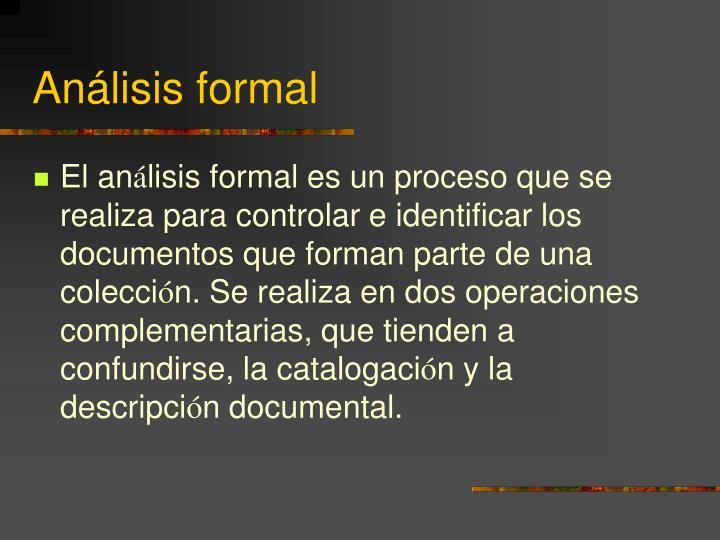 Análisis formal