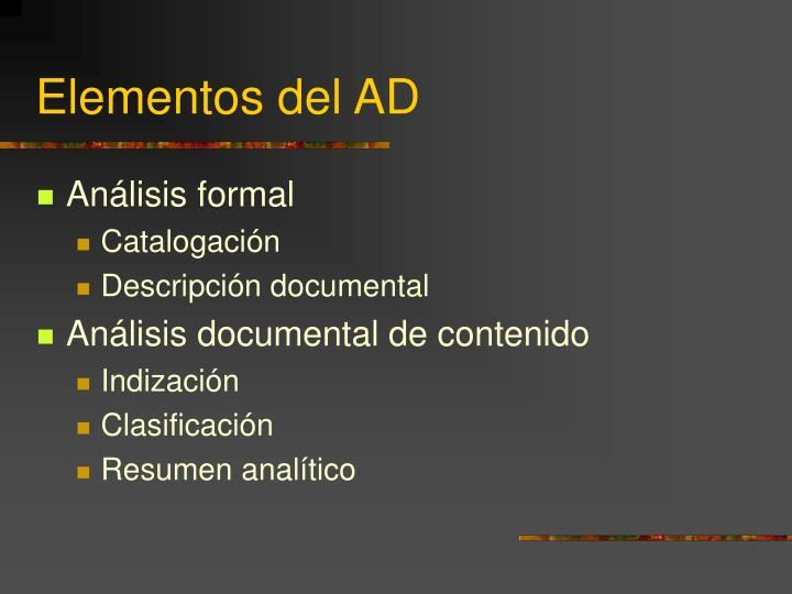 Elementos del AD