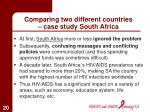 comparing two different countries case study south africa