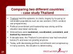 comparing two different countries case study thailand